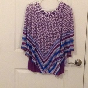 Two piece top - tank underneath & sheer cape over
